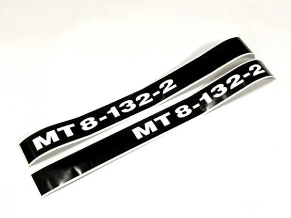 Beschriftung , Aufkleber , Bezeichnung MT8-132