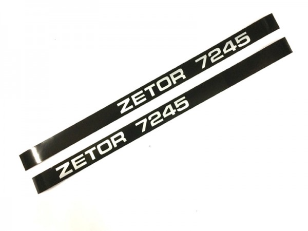 Schlepperbezeichnung , Aufschrift, Aufkleber Motorhaube Zetor 7245