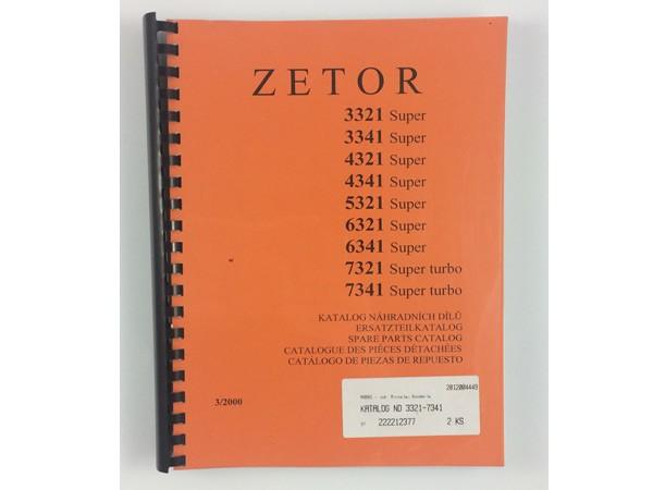 Katalog , Ersatzteilkatalog Zetor 3321 - 7341 Super Turbo Neu