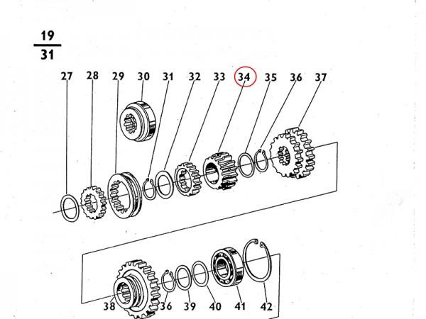 Zahnrad des IV. Ganges im Getriebe Zetor UR1 NEU