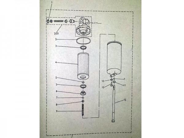 Ölfiltereinsatz für Liaz LKW