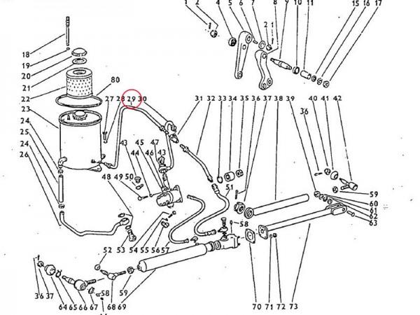 Ablaufrohrleitung, Abfallrohr Zetor UR1