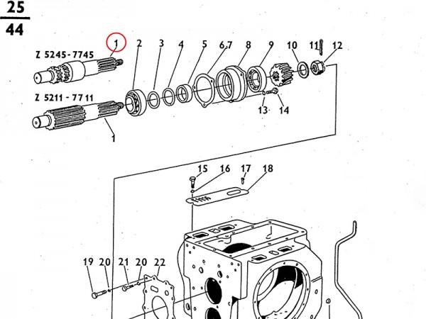 Ritzelwelle Ausgleichsgetriebe / Getriebe Zetor UR1 NEU
