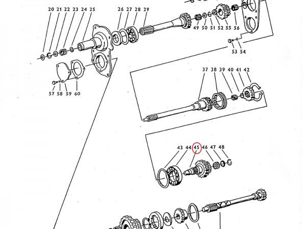 Treibwelle Antriebswelle Getriebe Zetor UR1 NEU
