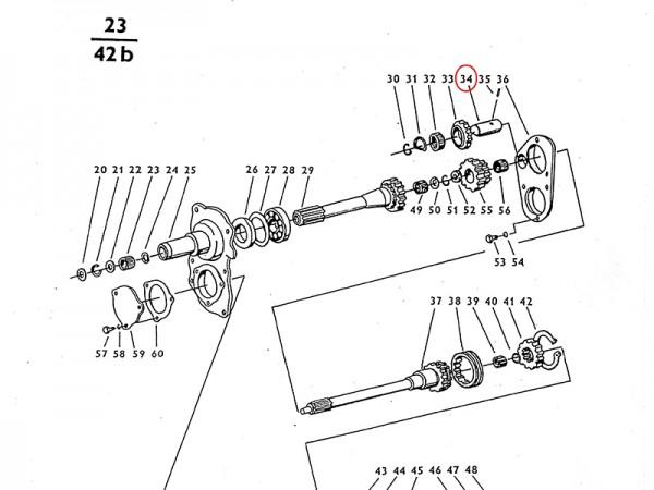 Bolzen im Getriebe Zetor UR1 NEU