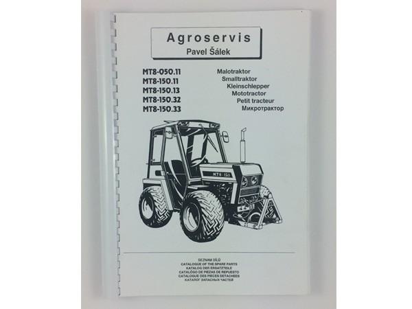 Katalog , Ersatzteilkatalog MT8-050.11 - 150.33 Neu