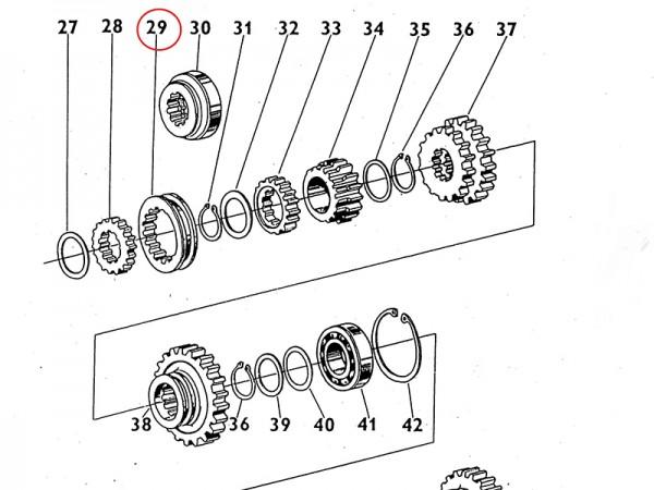 Zahnrad / Schaltmuffe im Getriebe Zetor UR1 NEU