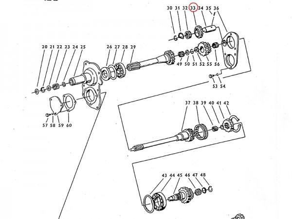 Zwischenrad im Getriebe Zetor UR1 NEU