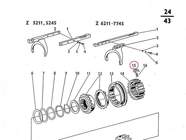 Gleitstück für Synchronring im Getriebe Zetor UR1 NEU
