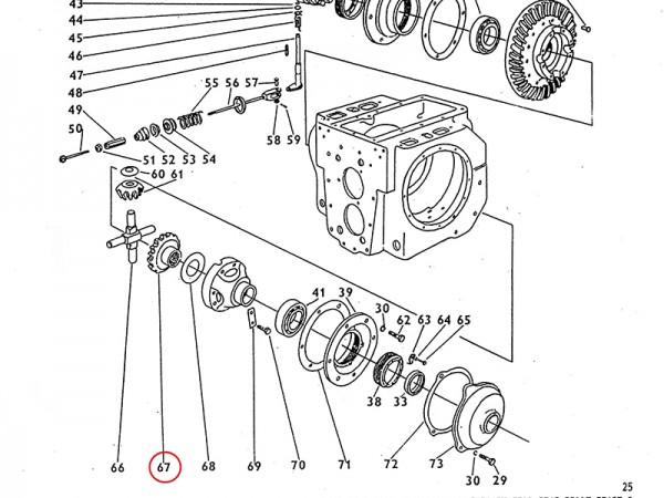 Planetenrad für Getriebe / Ausgleichsgetriebe Zetor UR1 NEU