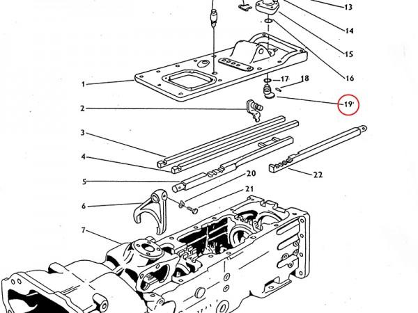 Schaltsegment für Getriebe Zetor UR1 NEU