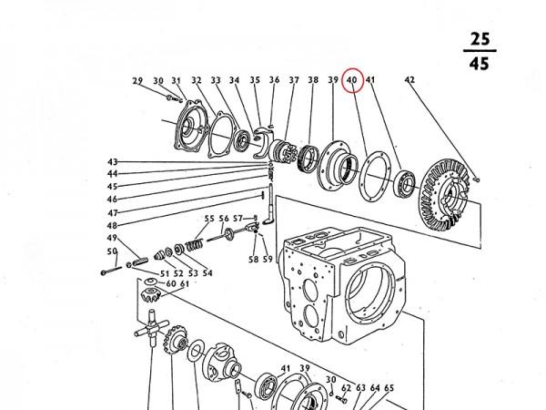 Dichtung für Ausgleichsgetriebe Getriebe Zetor UR1 NEU