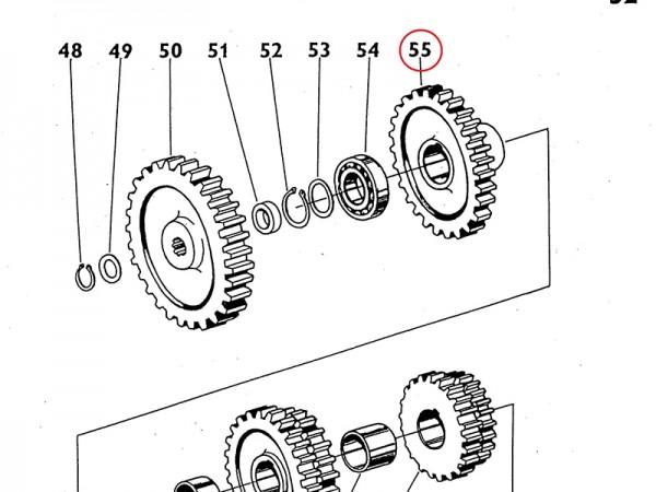 Dauereingriffsrad Zahnrad im Getriebe Zetor UR1 NEU