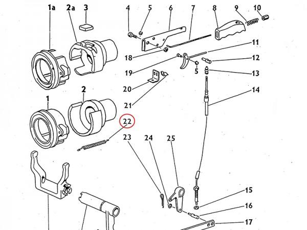 Spannfeder mechanisches Handausrücken Kupplung Zetor UR1 NEU