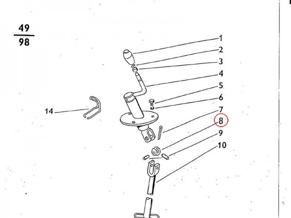 Gleitstück Höhenverstellung Dreipunktaufhängung Zetor UR1 NEU