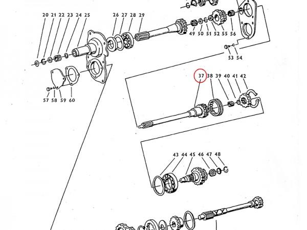 Kupplungswelle im Getriebe Zetor UR1 NEU