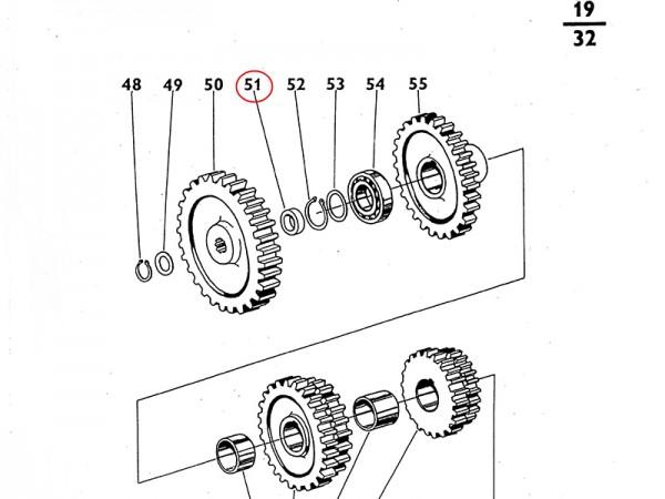 Einlage Einlegehülse Getriebe für Zetor UR1 NEU