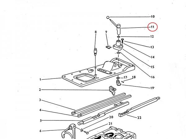 Schalthebel für Antrieb - Getriebe Zetor UR1 NEU