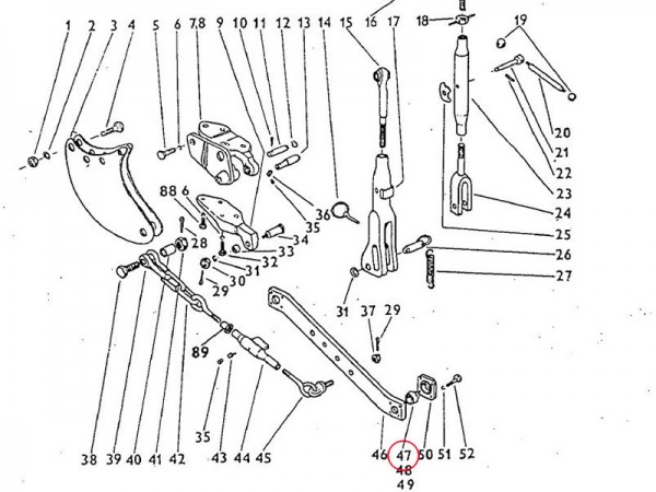Kugel 25,5mm Dreipunktaufhängung Zetor UR1