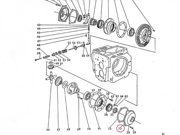Deckel für Ausgleichsgetriebe Getriebe Zetor UR1 NEU