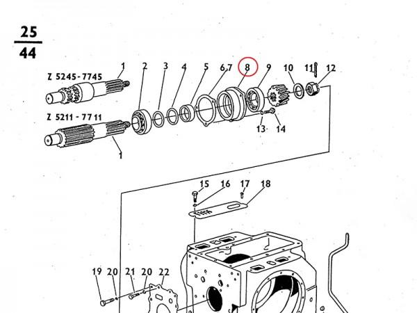 Lagerbuchse - Getriebe Zetor UR1 NEU