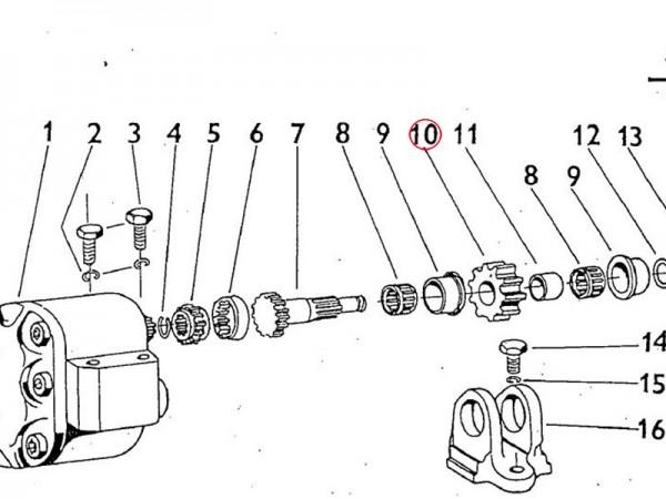 Zahnrad Hydraulikpumpe Zetor UR1
