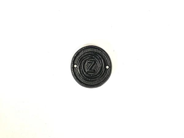 Schild , Firmenschild in schwarz , Zetor Neu