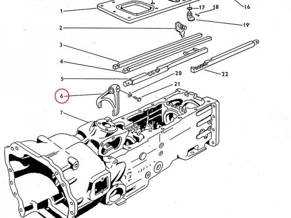 Schaltgabel - Gabel für Getriebe Zetor UR1 NEU