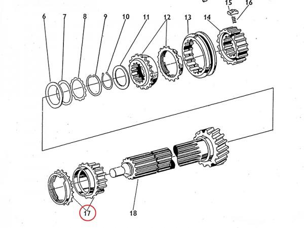 Zahnrad Rad Gang IV im Getriebe Zetor UR1 NEU