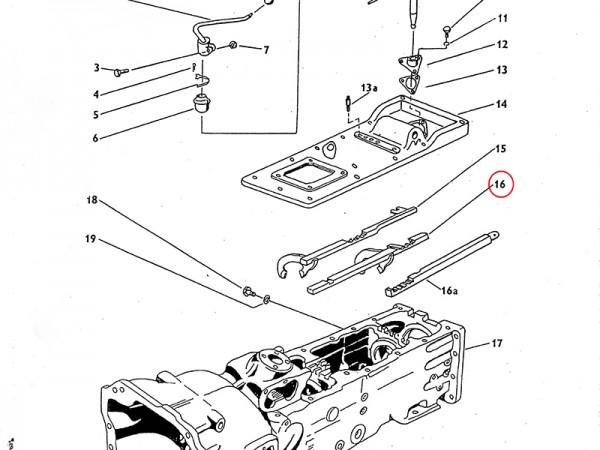 Schaltgabel Gang I und Rückwärtsgang im Getriebe Zetor UR1 NEU