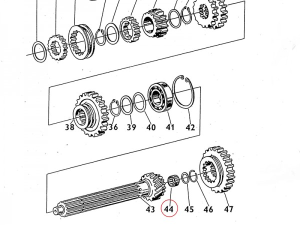 Nadellager 40 x 45 x 17 Getriebewelle Übersetzungsgetriebe Zetor UR1 NEU