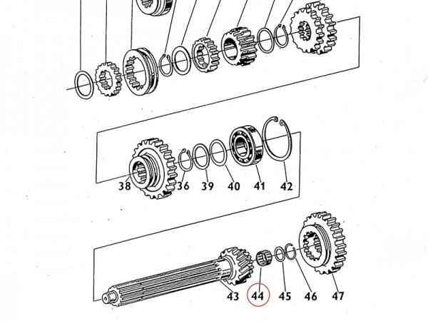 Nadellager 40 x 45 x 17 Getriebewelle Übersetzungsgetriebe Zetor UR1