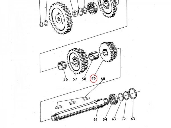 Getrieberad Zahnrad im Getriebe 1. und 2. Gang für Zetor UR1 NEU