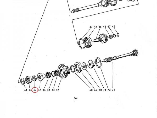 Einlage im Getriebe Zetor UR1 NEU