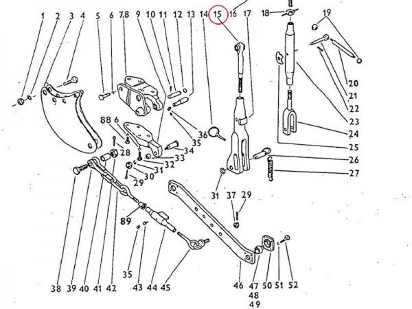 Strebenschraube Dreipunktaufhängung Zetor UR1