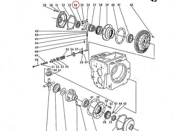 Gabelgleitstein für Ausgleichsgetriebe Getriebe Zetor UR1 NEU