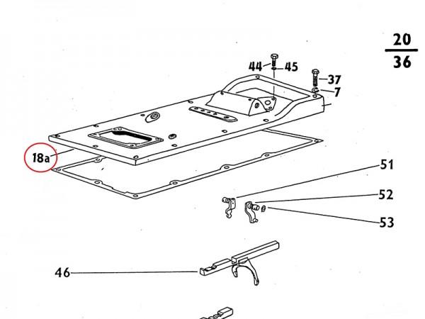 Getriebekastendeckel , Deckel für Getriebe Zetor UR1