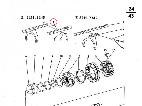Schaltstange für Schaltgabel für Getriebe Zetor UR1 NEU