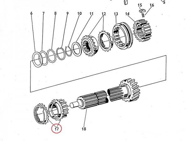 Getrieberad IV.Gang für Getriebe Zetor UR1 NEU