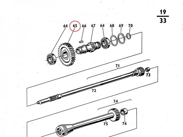 Dauereingriffsrad Getrieberad Reduktion für Getriebe Zetor UR1 NEU