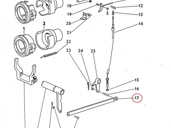 Zugstange mechanisches Handausrücken Kupplung Zetor UR1 NEU