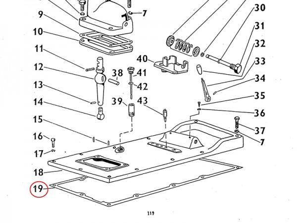Dichtung Getriebe / Getriebedeckel im Getriebe Zetor UR1 NEU