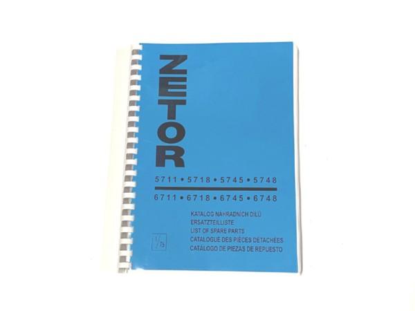 Katalog , Ersatzteilkatalog Zetor 5711-6748 NEU