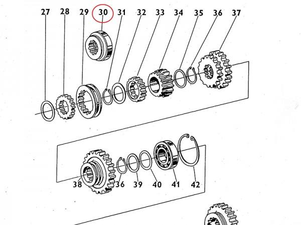 Kupplung der 4. & 5. Gangstufe Übersetzungsgetriebe Getriebe Zetor UR1 NEU