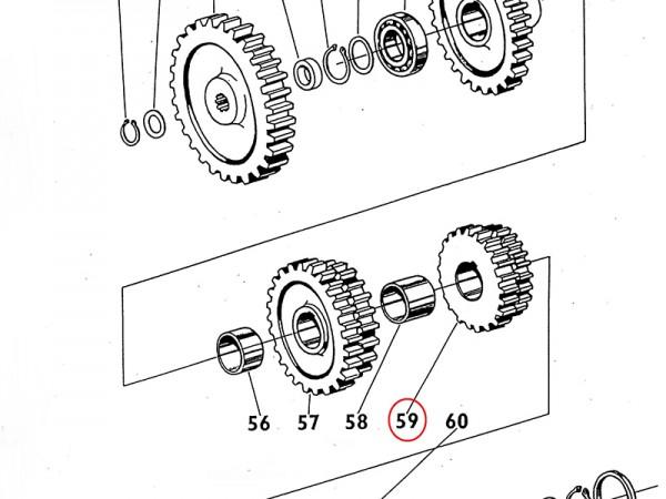 Zahnrad / Rad Gang I und II im Getriebe Zetor UR1 NEU
