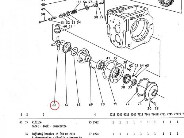 Umlaufzapfen - Getriebe Zetor UR1 NEU