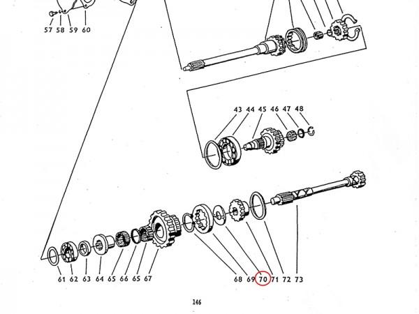 Einlage im Getriebe Reversieranlage Zetor UR1