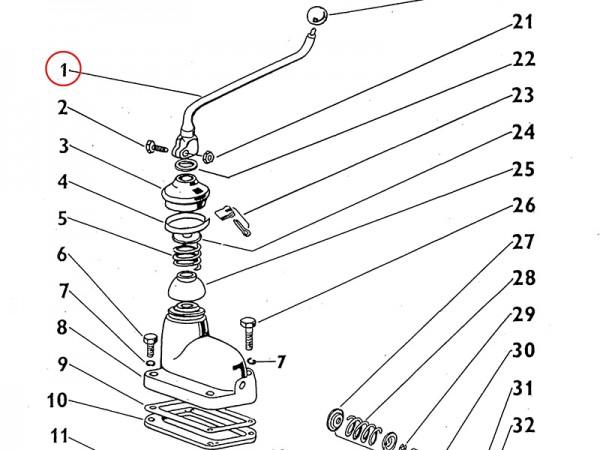 Schalthebel Ganghebel für Getriebe Zetor UR1 NEU
