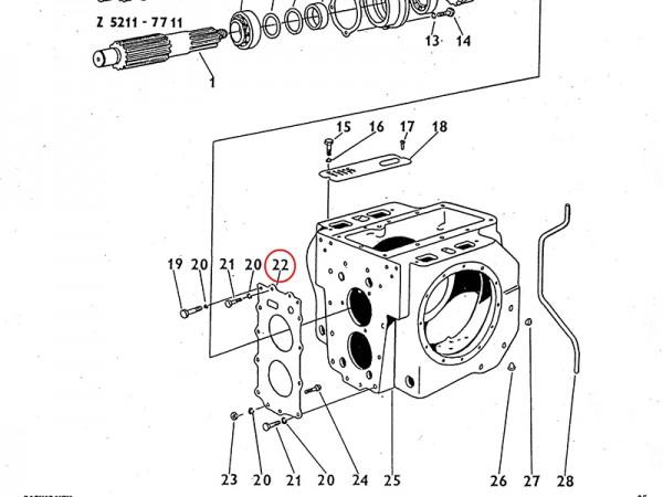 Dichtung für Getriebe / Ausgleichsgetriebe Zetor UR1 NEU