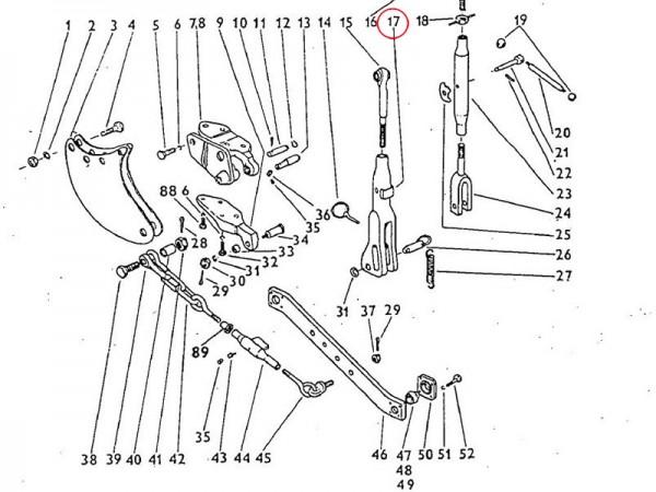 Strebe Dreipunktaufhängung Zetor UR1